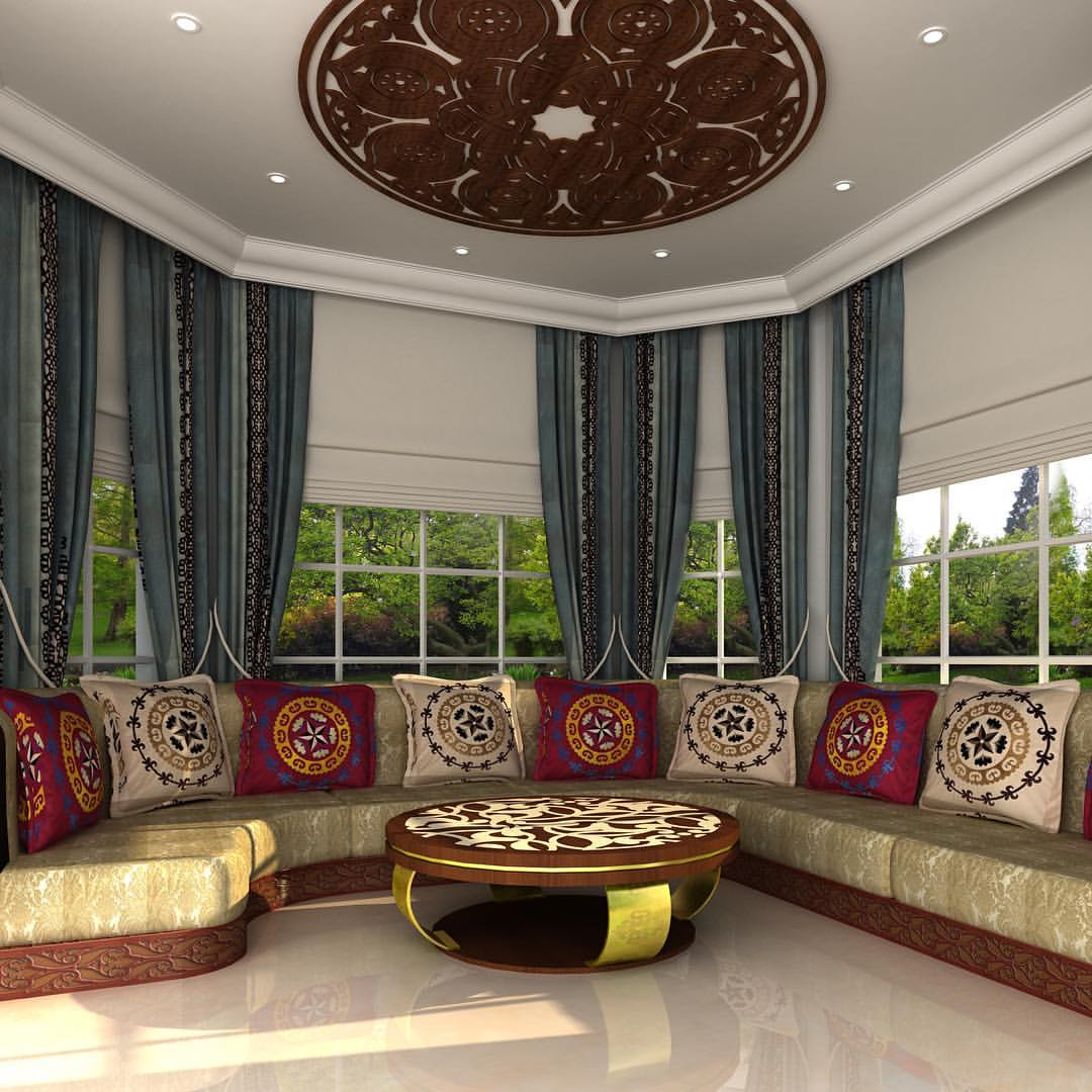 Majlis Dubai luxury reunion family Décor interior design