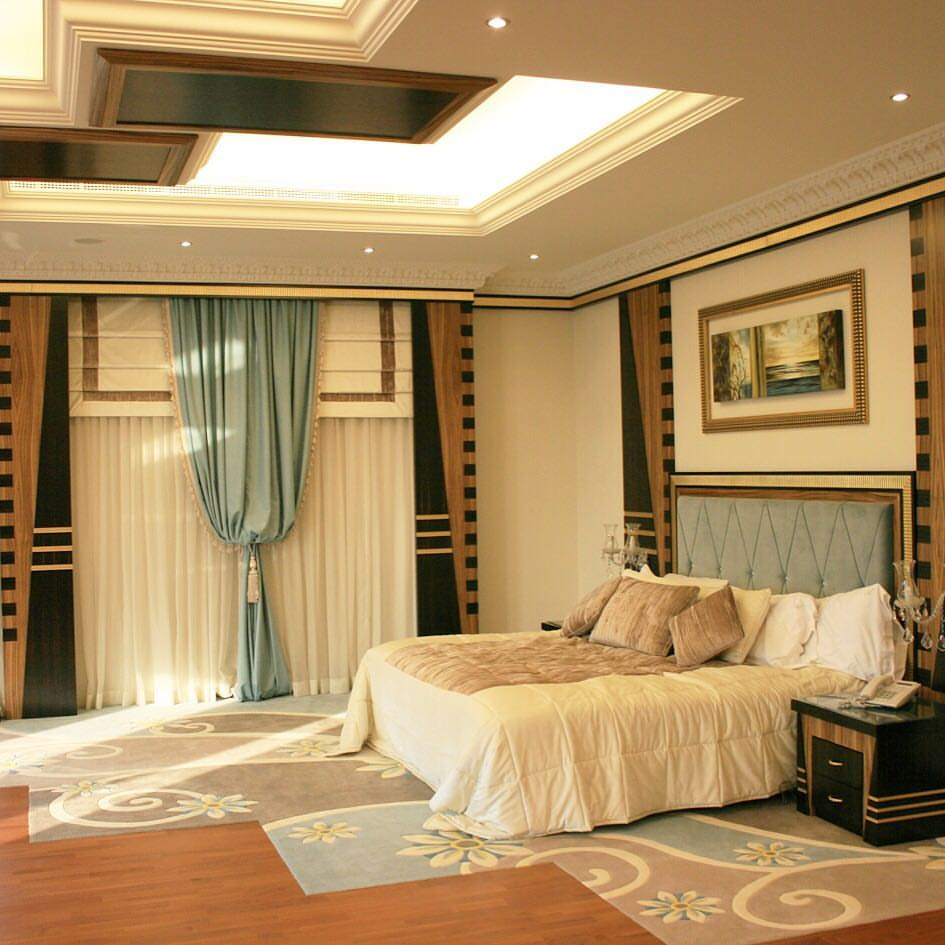 A room for royalty, bed goals royal Dubai decor interior design classic custom made by Emirates Décor