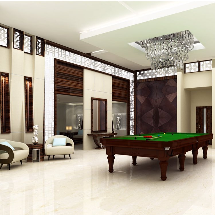 Pool table is a must. Pool billiard decor design luxury interior business panda